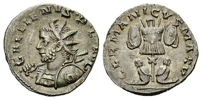 One of the last nice antoninianii to be struck in Cologne before it all went to hell.