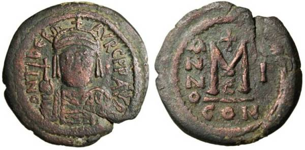 The fairly drab but serviceable Byzantine follis that help stabilize the sad state of late Roman coinage.