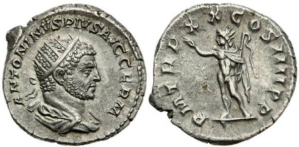 The antoninianus of Caracalla was defined by the larger size and radiate crown on his portrait.