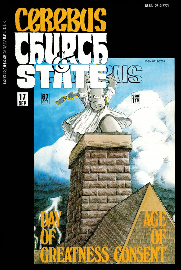 Cerebus Church and State