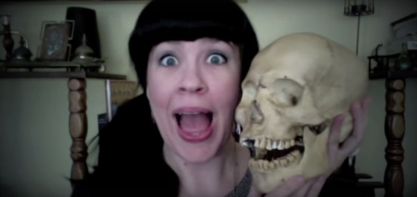 Caitlin Doughty and friend.