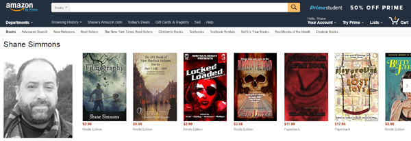 Filmography now sits atop my author page as it (hopefully not too briefly) outsells the rest of my credits.